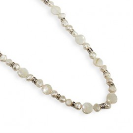Beatrix Necklace in White Shell Pearl