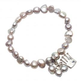 Julianna Bracelet in Grey Pearls