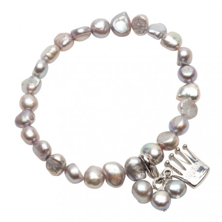 Julianna Bracelet in Grey Pearls