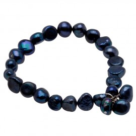 Julianna Bracelet in Dark Blue Pearls
