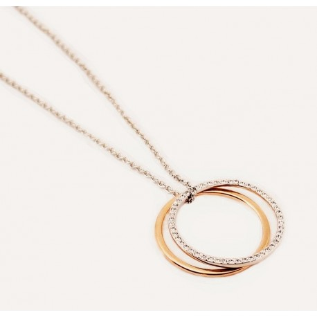 Gladys Necklace in Silver and Rose-Gold