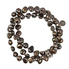 Viktoria Bracelet in Brown Pearls