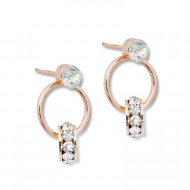 Nellie Earrings in Rose Gold