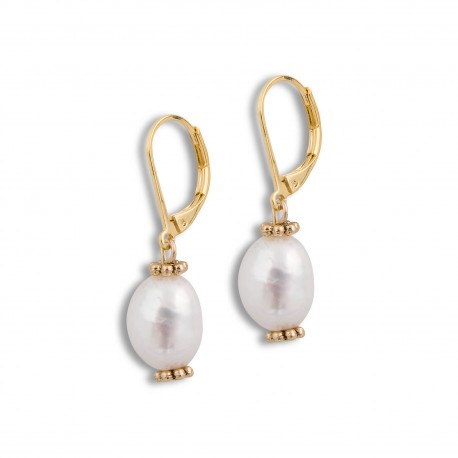 Teresa Earring in Pearl and Gold