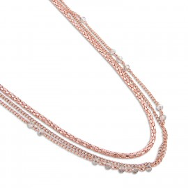 Carla Necklace in Rose Gold