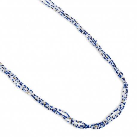 Missy Necklace in Blue & White