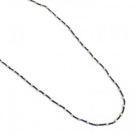 Larken Necklace in Navy Blue