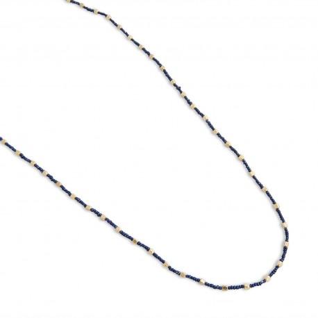 Larken Necklace in Navy Blue