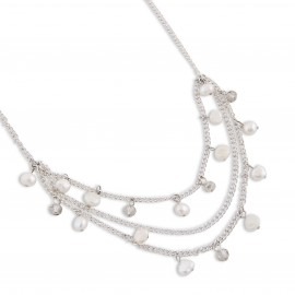 Susan Necklace in White Pearls