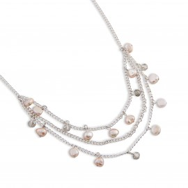 Susan Necklace in Pink Pearls