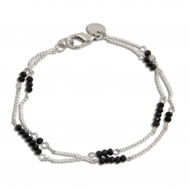 Reggie Bracelet in Black and Silver