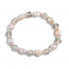 Maria Bracelet in Pink Pearls