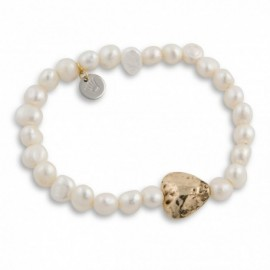 Ami Bracelet in Gold & Pearl