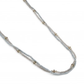 Regina Necklace in Blue and Champagne