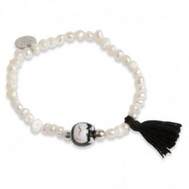 Jovita Bracelet with Black Tassel