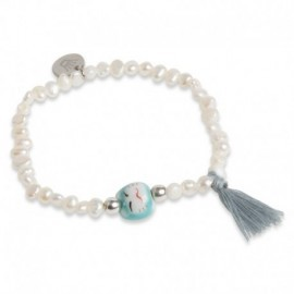 Jovita Bracelet with Blue Tassel