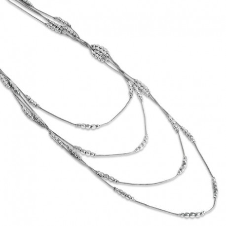 Rosalinda Necklace in Silver