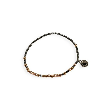 Elsbeth Bracelet in Rose-Gold and Dark Grey