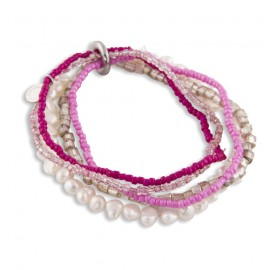 Marnie Bracelet in Pink and Pearls