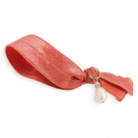 Hår Hair Tie in Coral Red