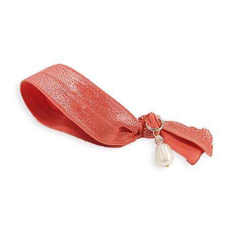 Hår Hair Tie in Coral Red
