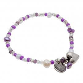 Line Bracelet in Purple