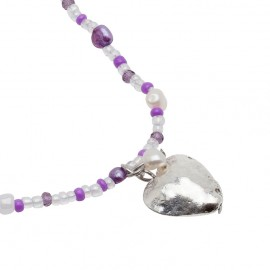 Line Necklace in Purple
