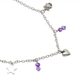 Emily Necklace in Purple