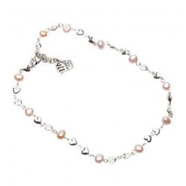 Riya Necklace in Pale Pink