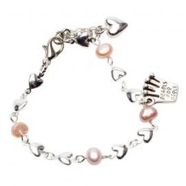 Riya Bracelet in Pale Pink