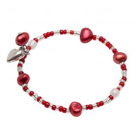 Line Bracelet in Red