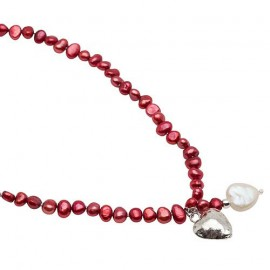 Noelle Necklace in Red