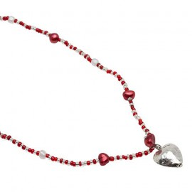 Line Necklace in Red