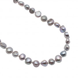 Ingrid Pearls in Grey - 90 cm