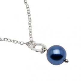 Melinda Necklace in Blue Short