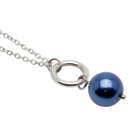 Melinda Necklace in Blue Long