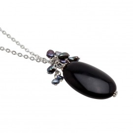 Veronica Necklace in Black