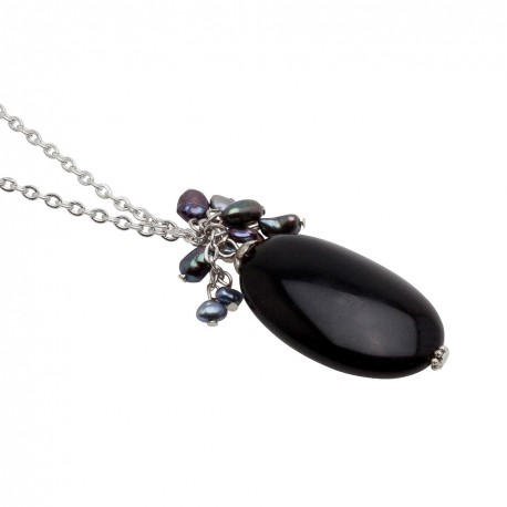 Veronica Necklace in Black