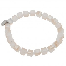 Duff Bracelet in Off-White Agate