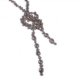 Cassandra Pearls in Brown