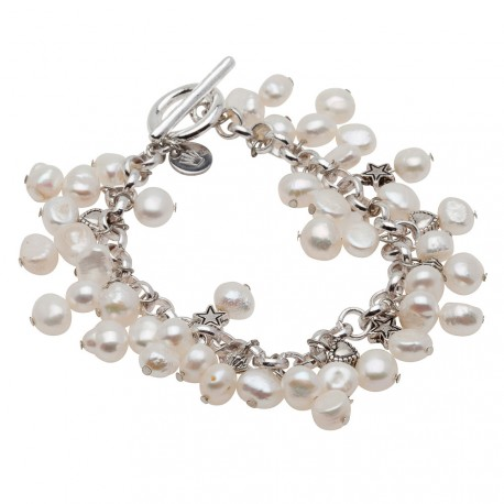 Alex Bracelet in White Pearls