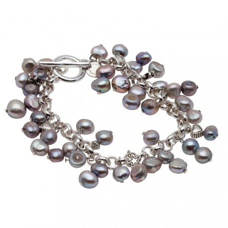 Alex Bracelet in Grey Pearls